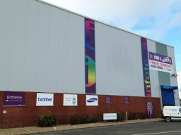 Giant 1.5m x 10m Vinyl Banners for Infotone