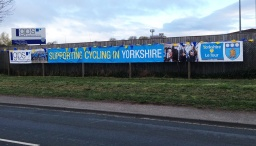15 metre banner supporting Tour de Yorkshire