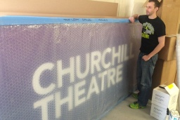 Signage all set for Churchill Theatre!
