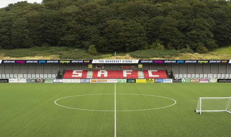 Scarborough Athletic FC's new Adverset stand