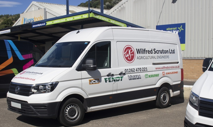 Wilfred Scruton delighted with newly branded vehicles