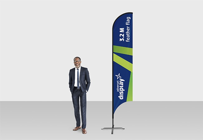 3.2 Feather flag display outdoor and indoor promotions | Adverset ...