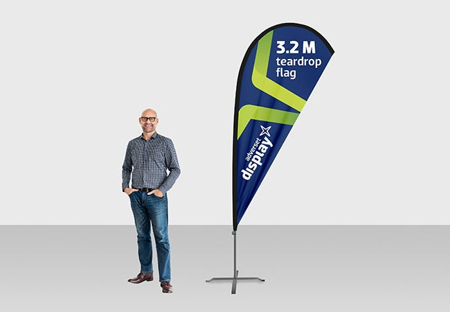 3m Teardrop Flag | Idea for outdoor or indoor promotions | Adverset ...