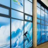 Window vinyl graphics printing