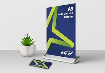 Mini Pull-up Banner Stand