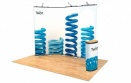 Twist Display Stand 4-Panel Kit
