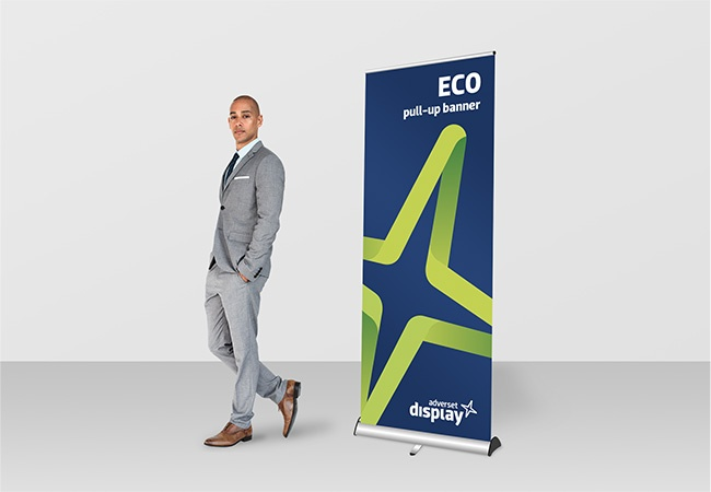 Eco pull up exhibition banner