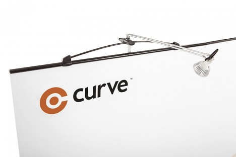 Curve Display 850mm wide replacement graphic only