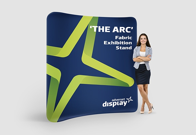 Arc Fabric Printed exhibition stand
