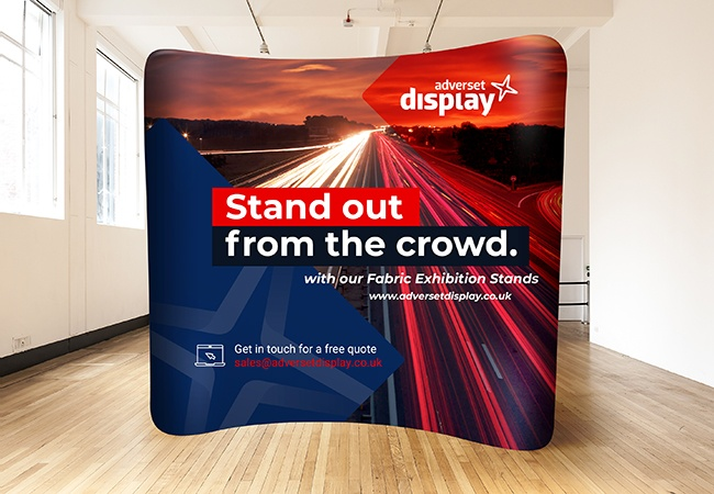 Fabric Exhibition Stand Up : Fitted stretch graphics exhibition display stands