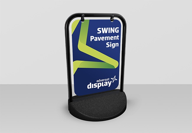Swing Pavement Sign