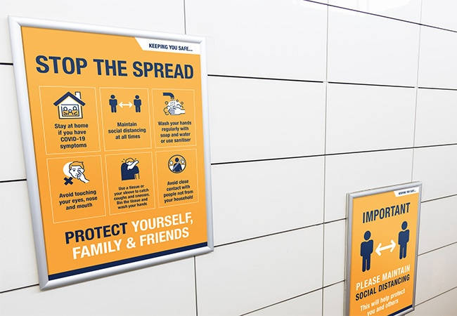 'STOP THE SPREAD' A3 Posters - pack of 6