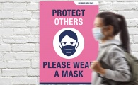 'PLEASE WEAR A MASK' A2 Foamex Boards