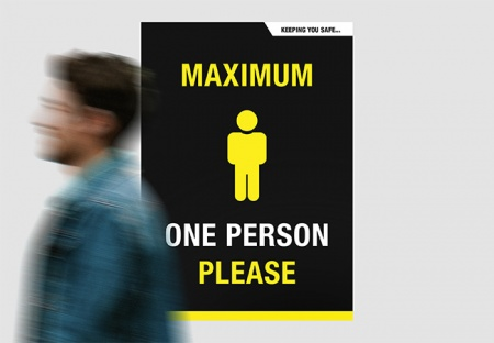 'ONE PERSON ONLY' A2 Posters