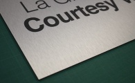 Brushed Steel Dibond Aluminium Signs & Boards