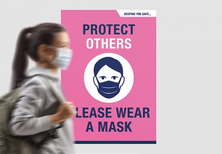 'PLEASE WEAR A MASK' A2 Posters