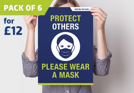 'PLEASE WEAR A MASK' A3 Posters - pack of 6