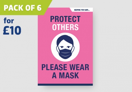 'PLEASE WEAR A MASK' A4 Posters - pack of 6