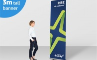 RISE Giant 3m Pull-up Banner