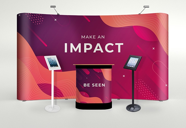 iPad exhibition stand display