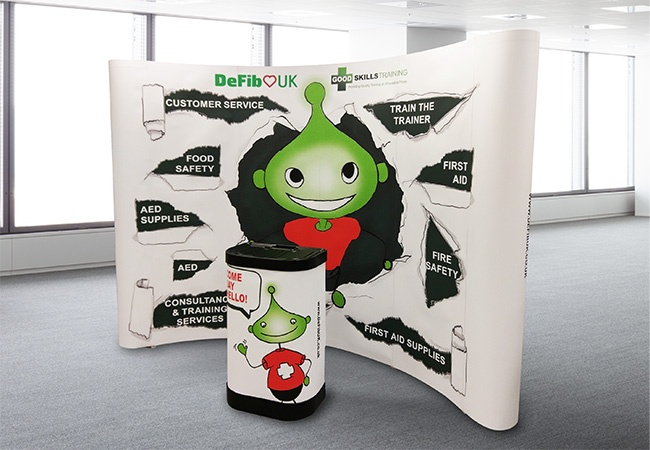 Pop Up Exhibition Stand : Pop up stand uk delivery adverset display